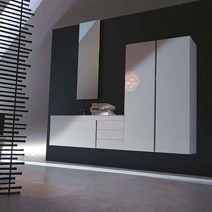 Karol Manhattan comp. №13, комплект подвесной мебели 235 см. цвет: Bianco Lucido