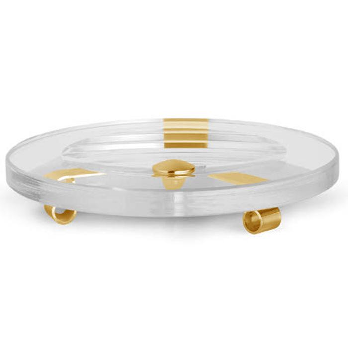 Bertocci Cinquecento Мыльница настольная, цвет: прозрачное стекло/золото
