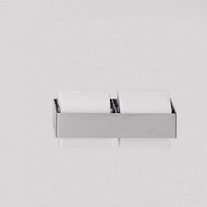 Agape 369 Двойной держатель туалетного рулона из нержавеющей стали, цвет: глянец