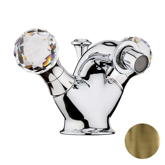 Смеситель для биде Webert Karenina КА710102 Бронза/кристаллы Swarovski