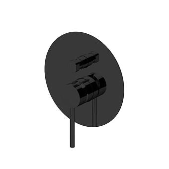 GATTONI CIRCLE TWO Смеситель встраиваемый на 2 выхода, с внутренней частью, цвет: NERO OPACO