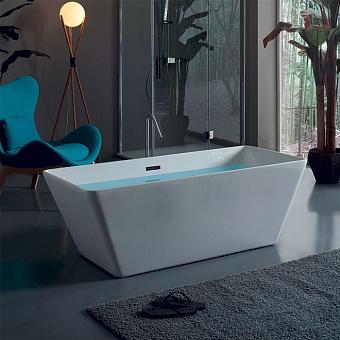 KERASAN Ego Ванна отдельностоящая  акриловая  160х70х55см в комплекте со сливом Clic-clac, цвет белый