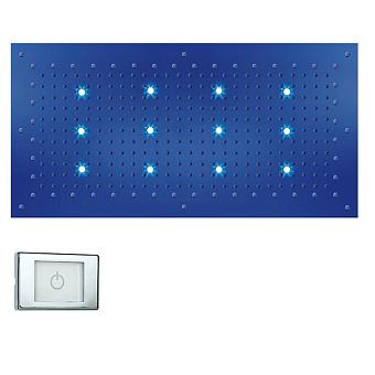 BOSSINI DREAM-XL RECTANGULAR Верхний душ 1000 x 500 мм, с 12 LED RGB, блок питания/управления, Cromoterapia, цвет: хром