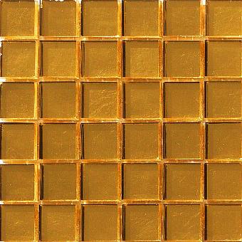 Mosaico+ Doro Мозаика 32,7x32,7см., универсальная, стекло, цвет: yellow gold smooth
