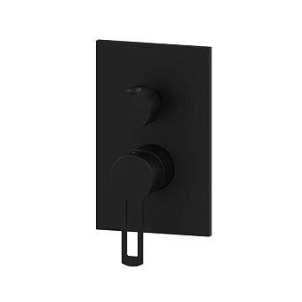 Paffoni Ringo Смеситель для душа, встраиваемый, с переключателем на 2 потока, 1 комбо, цвет: черный матовый