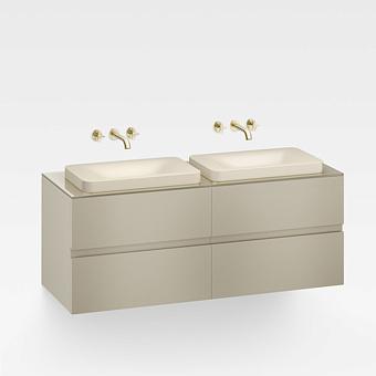 Armani Roca Baia Тумба подвесная с 2 раковинами, 155х59х61см с 4 ящиками, со столешницей, цвет: greige
