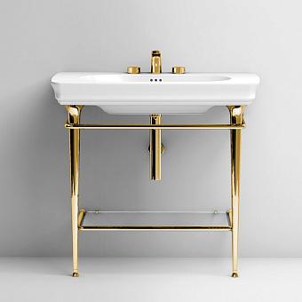 Artceram Civitas Структура металлическая Tonda для раковины 90см, полка стекло, цвет золото