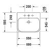 Duravit Happy D.2 Раковина 60х50.5 см, 1 отв., подвесная, для тумбы Happy D.2 # H2 6363, цвет: белый