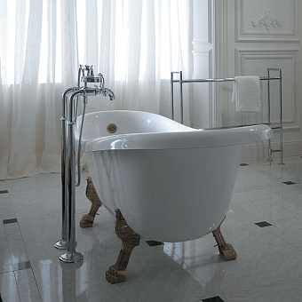 Globo Paestum Ванна 170x80 см белая, ножки бронза