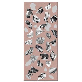 Ornamenta Operae Керамическая плитка 120х278см, настенная, декор: Collage Pink