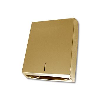 3SC Hotel Контейнер для бумажных полотенец, настенный, цвет: золото 24к. Lucido