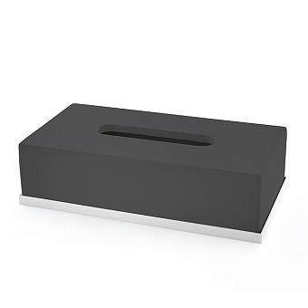 3SC Mood Deluxe Контейнер для бумажных салфеток, 24,5х13хh7 см, настольный, цвет: чёрный матовый/белый матовый