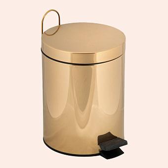 TW Harmony 010, ведро с педалью и крышкой, 5 литров, напольное, цвет: золото