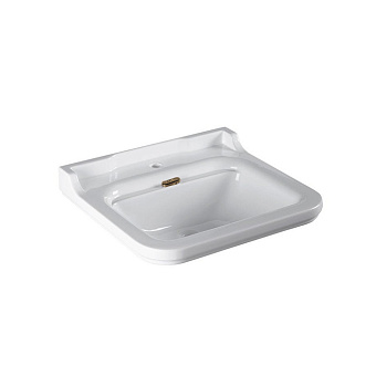 Kerasan Waldorf Раковина 60х55 см, 1 отв., керамическая, цвет: белый/бронза