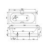 Bette Form Ванна пристенная 150х70х42 см, с шумоизоляцией, цвет: белый
