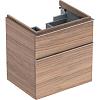 Geberit iCon Тумба с раковиной 59.5х62х47.7см, с 1 отв., подвесная, с двумя выдвижными ящиками, цвет: натуральный дуб/меламин