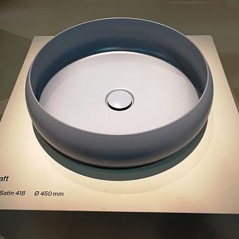 BETTECraft  Раковина-чаша 45х45х12 cм, без отв., накладная, круглая, без перелива, цвет: blue satin