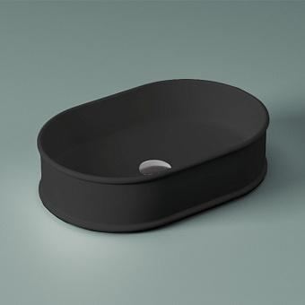 Artceram Atelier Раковина накладная, 60x40хh15см, без отв под смеситель, без перелива, цвет: черный