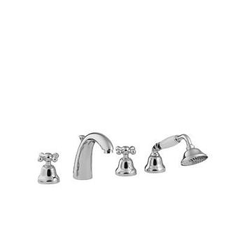 TREEMME ROMANTICA, Смеситель для ванны встраиваемый в борт, Цвет: золото/керамика