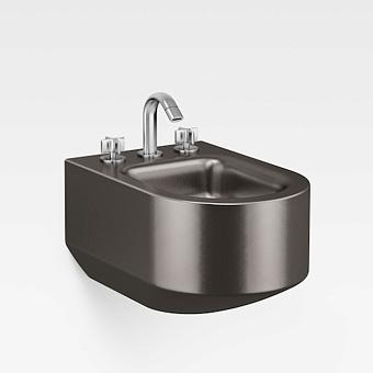 Armani Roca Baia Биде подвесное 56x38x30см с 3 отв. под смеситель, цвет: dark metallic
