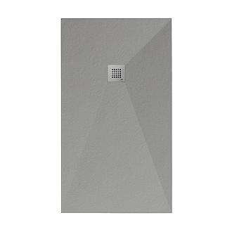 Noken Slate Душевой поддон 120x80см, Mineral Stone, цвет: серый