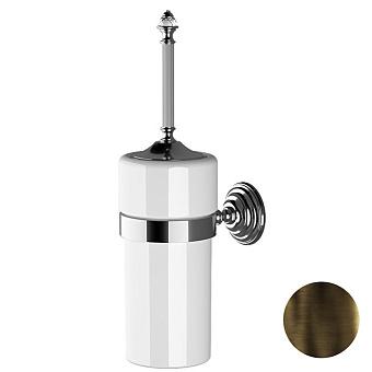 Devon&Devon Diamond Туалетный ершик, подвесной, белая керамика, цвет: бронза