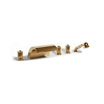 Bongio Impero, Смеситель для ванны, цвет: золото/swarovski