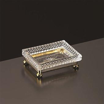Cristal et Bronze Prestige Мыльница из рельефного стекла настольная, цвет: золото