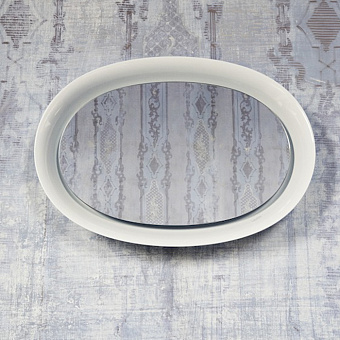 Laufen New Classic Зеркало в керамической раме с подсведкой LED 50х70см, цвет: белый глянцевый