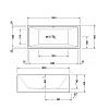 Duravit Vero Air Ванна 1800x800 мм, приставной вариант, с бесшовной панелью и рамой, с 2 наклонами для спины, цвет белый