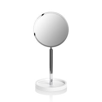 Decor Walther Stone KSA Косметическое зеркало 40x18x16.5см, на подставке, цвет: белый / хром