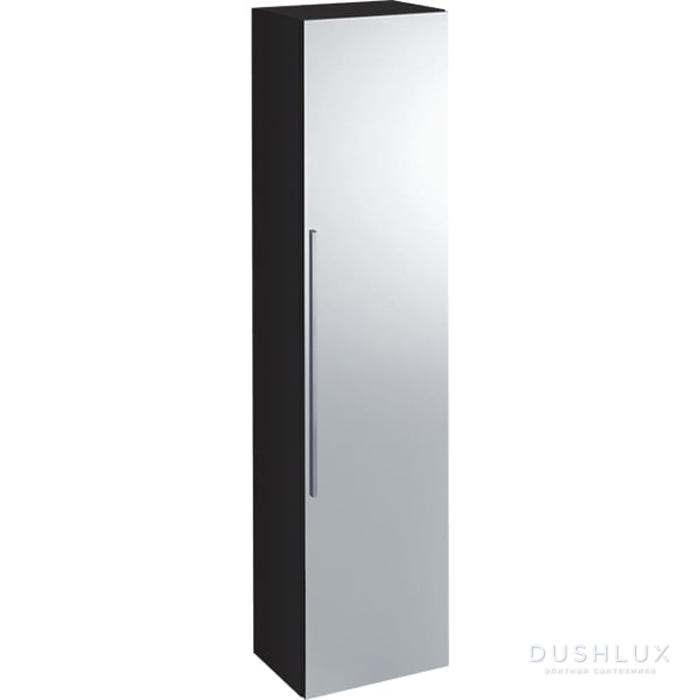 Geberit iCon Высокий пенал с одной дверью и наружным зеркалом 36х150х31.7см, темно-серый/матовое покрытие