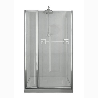 Душевая дверь Gentry Home Athena 130х190 см с фиксированной панелью
