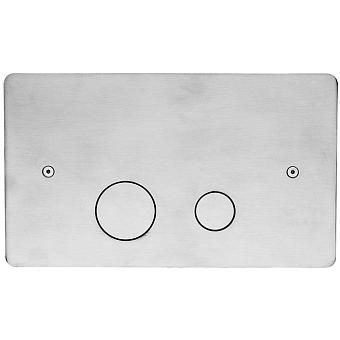 CISAL Клавиша двойного смыва для бачка Geberit, цвет нержавеющая сталь