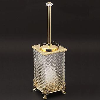 Cristal et Bronze Prestige Ершик для унитаза напольный для стеклянной колбой, цвет: золото