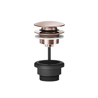 """Gessi 316 Донный клапан нажимной """"Stop&Go"""", для раковин без перелива, цвет: Copper Brushed PVD"""