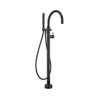 Cisal Less New Напольный смеситель для ванны с ручным душем со шлангом 150 см, цвет черный матовый