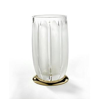 3SC Montblanc Стакан настольный, цвет: прозрачный хрусталь/золото 24к. Lucido