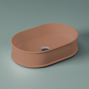 Artceram Atelier Раковина 60х40 см, без отв., настольная, без перелива, цвет: tortora