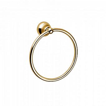 Полотенцедержатель-кольцо Bongio Axel, подвесной монтаж, цвет: золото 24к.