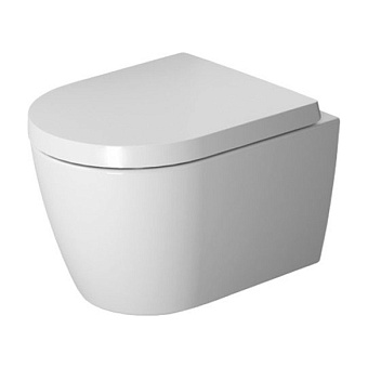 Duravit ME by Starck Комплект: унитаз подвесной Compact Rimless, 37x48см 253009 + сиденье с микролифтом: 002019, цвет: белый