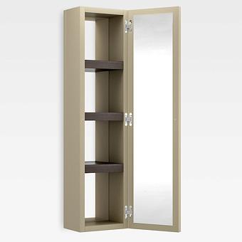 Armani Roca Island Настенный шкаф 30.2х16хh120см, с двумя зеркалами и полочками SX, цвет: greige