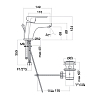 Webert Sax Evolution Смеситель для раковины, 1 отв., c донным клапаном, цвет: чёрный матовый