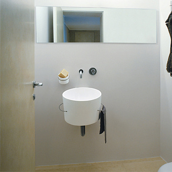 Agape Bucatini Раковина подвесная круглая 40.5x49x33.5 см, без отв., цвет: матовый белый