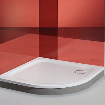 BETTE Corner Душевой поддон 90x90x3.5см без панели, цвет белый