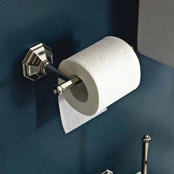 Sbordoni Deco Держатель для туалетной бумаги, цвет: никель/белый