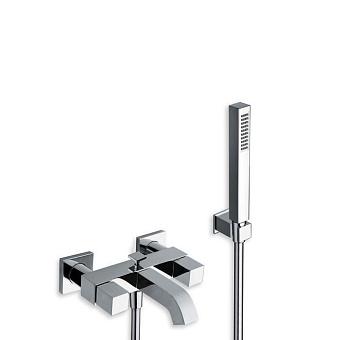 Cristina Quadri Смеситель для ванны с ручным душем, 3 отв., цвет: хром