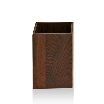 Decor Walther Wood PK Корзина для бумаги 18x18x25см, цвет: темный ясень
