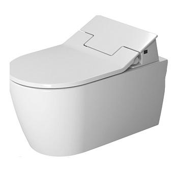 DURAVIT Me by Starck Унитаз подвесной безободковый 570х370 мм,  для крышки-биде Sensowash, с креплением, цвет белый, с сиденьем