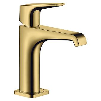 Axor Citterio E Смеситель для раковины, на 1 отв., излив: 14.3см, без донного клапана, цвет: полированное золото